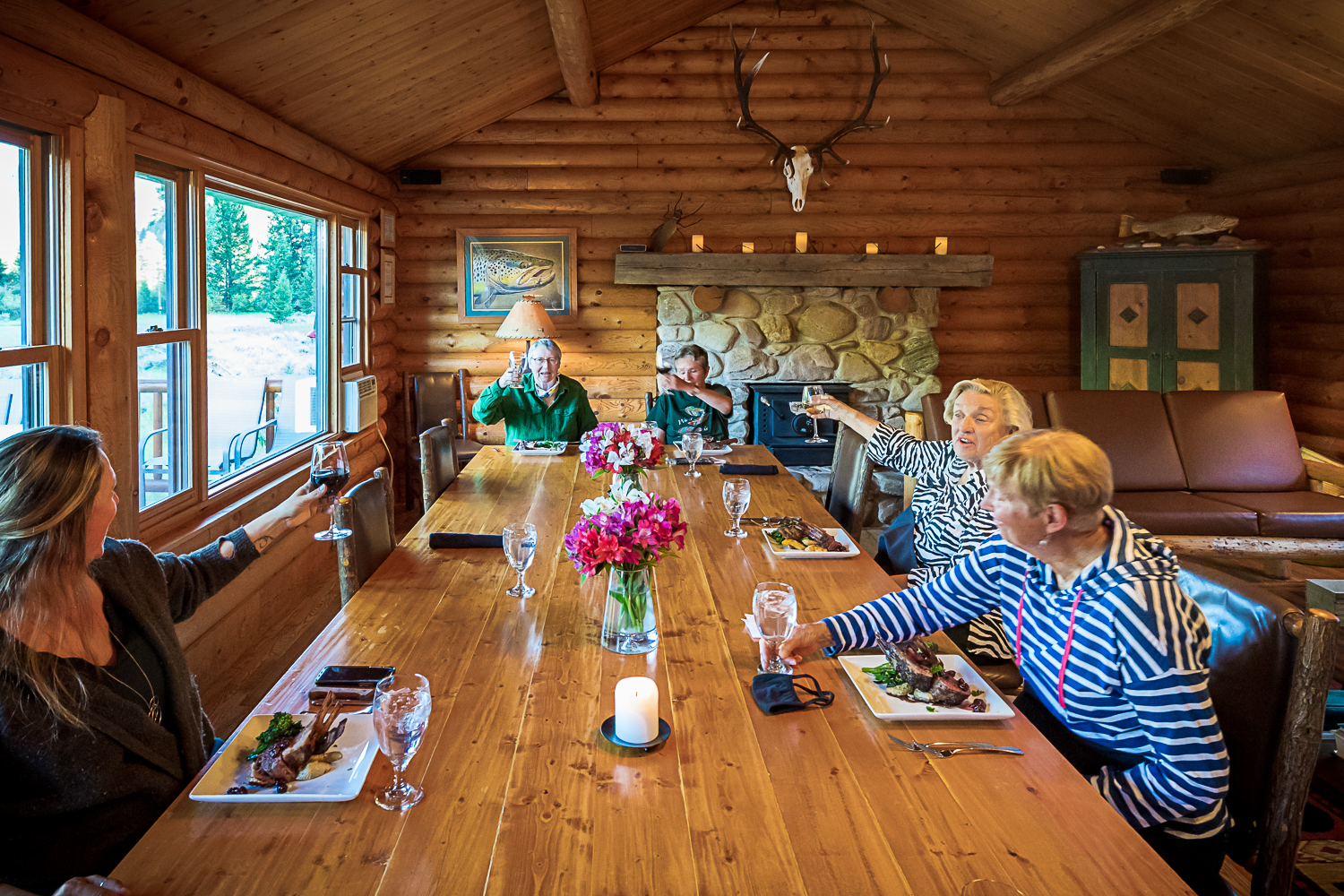 Big Hole Lodge Dining Room